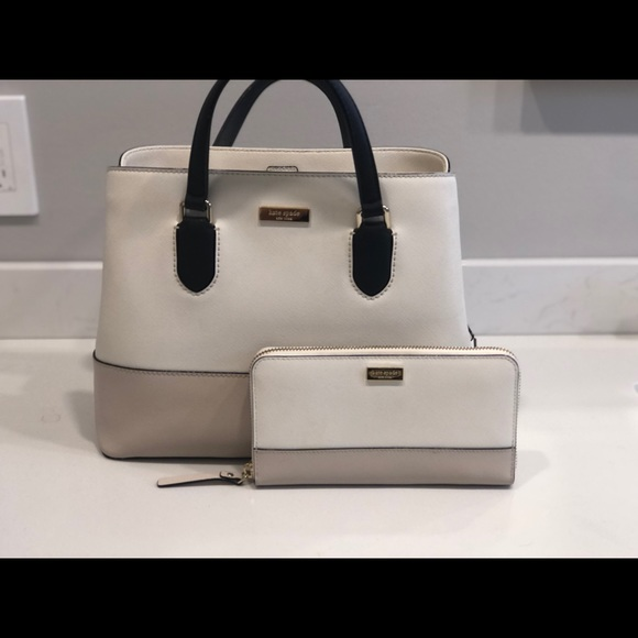 ♠️ Kate Spade matching two tone purse and wallet♠️